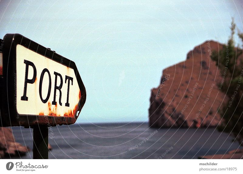 Directions to the port of Sa Calobra Majorca Loneliness Beach Europe Signpost to the harbour Nature