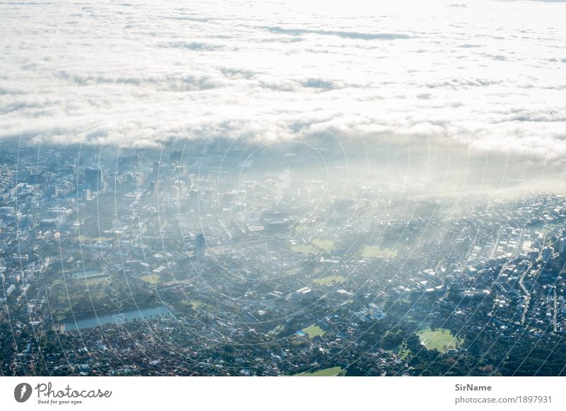 410 [cloud city scape] Advancement Future Environment Clouds Sunlight Climate change Warmth Cape Town South Africa Skyline Populated