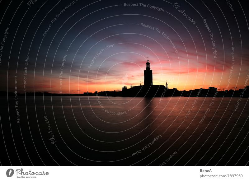Sky Vacation & Travel Town Water Ocean Architecture Building Tourism Historic Tourist Attraction Sightseeing Sweden City hall Stockholm City City hall tower