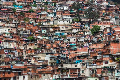 Barrio / Favela / Slum in Caracas, Venezuela Overpopulated Poverty Chaos Exotic Town favela Slum area Architecture Criminality barrio Closed Quarter Neighbor