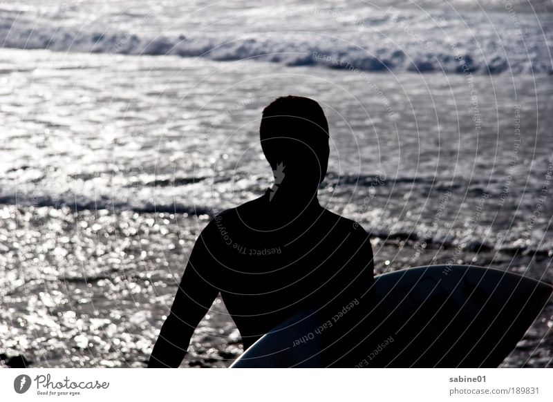 Human being Man Youth (Young adults) Vacation & Travel Summer Ocean Beach Adults Far-off places Sports Movement Freedom Coast Swimming & Bathing Waves Wind