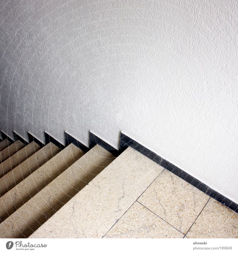 downstairs House (Residential Structure) Detached house Manmade structures Building Wall (barrier) Wall (building) Stairs Black White Staircase (Hallway) Tile