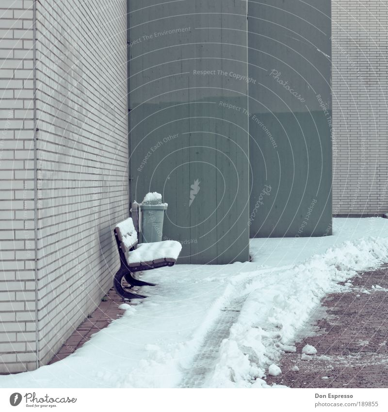 Winter House (Residential Structure) Cold Snow Wall (building) Wall (barrier) Ice Wait Facade Frost Bench Tracks Frozen Furniture Freeze Seating