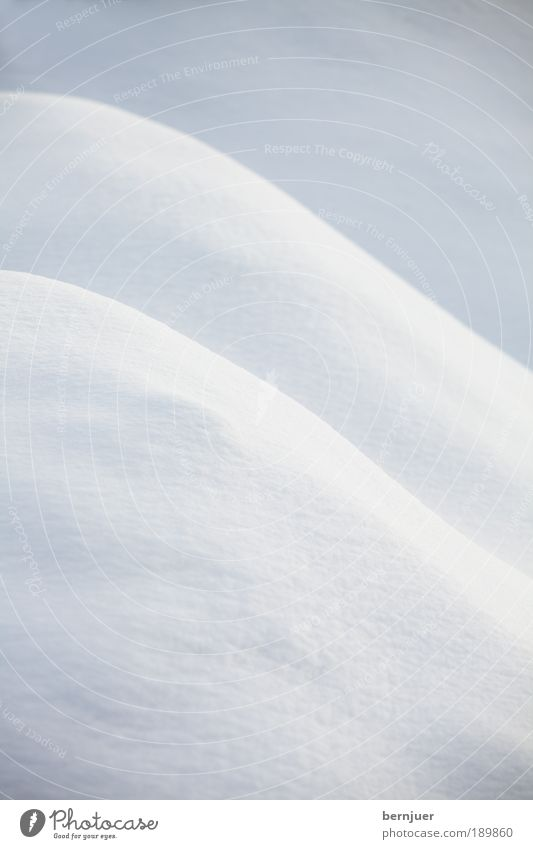 exciting curves Snow Hill Curve Fresh Background picture Abstract Deserted White Winter Cold Nature Landscape Structures and shapes Day Slope Calm Thigh