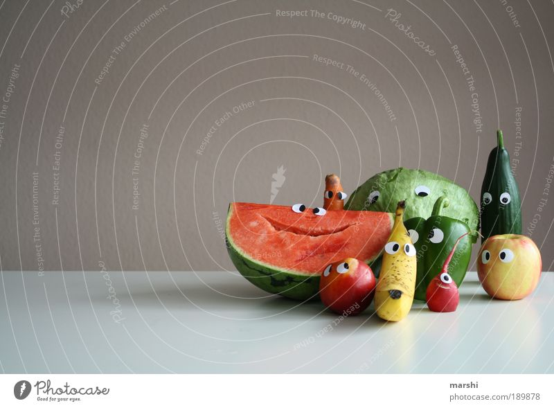 Vegetable Joy Eyes Life Nutrition Colour Emotions Food Face Small Healthy Funny Fruit Head Happiness Plant