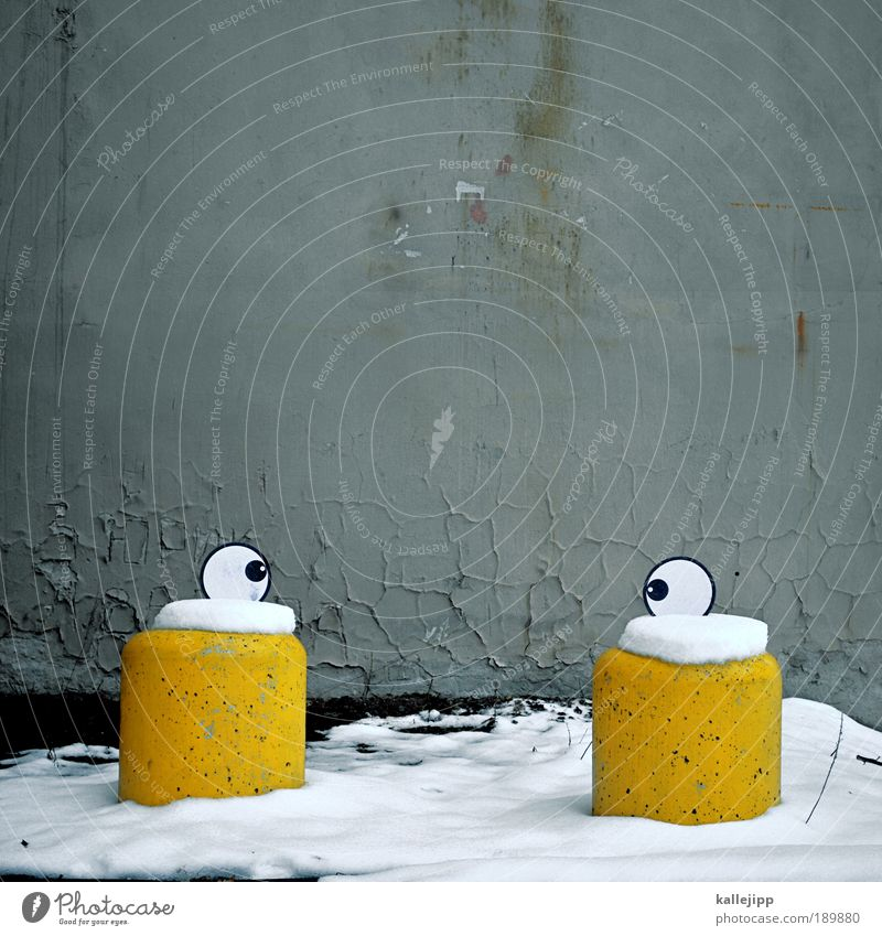 snow is in your eyes Human being Face Eyes 1 Signs and labeling Graffiti Looking Exceptional Funny Life Culture Art Whimsical Joy Comic Laughter Slapstick Humor