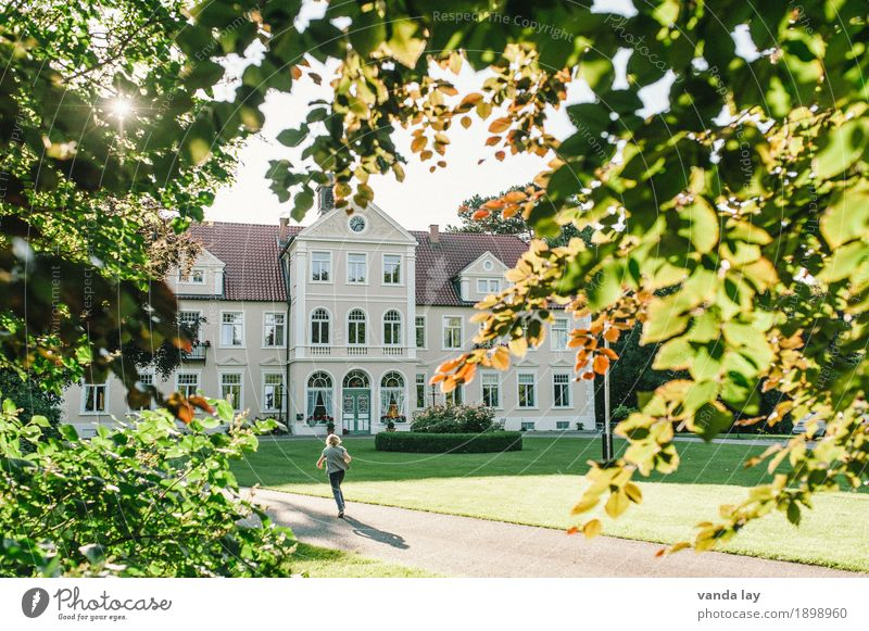 country estate Vacation & Travel Tourism Summer Summer vacation Sun Living or residing Flat (apartment) House (Residential Structure) Dream house Garden Child