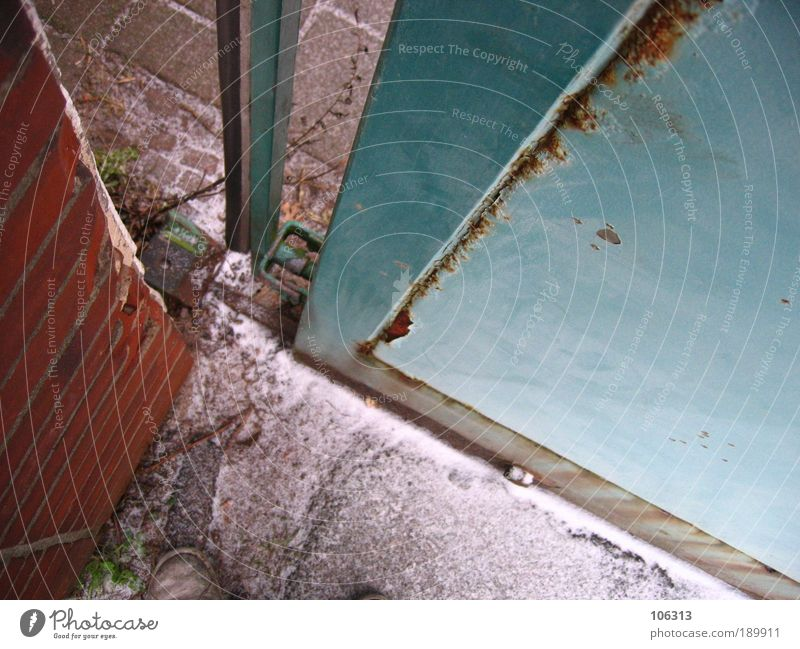 House (Residential Structure) Wall (building) Metal Closed Gate Rust Entrance Captured Furrow Column Way out Hiding place Truth Opening Chance Possible