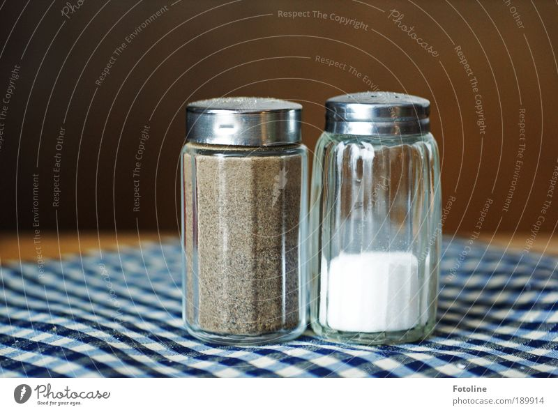 pepper and salt Food Nutrition Lunch Dinner Buffet Brunch Banquet Business lunch Blue Brown White Cooking salt Salt caster Salty Pepper caster Pepper plant