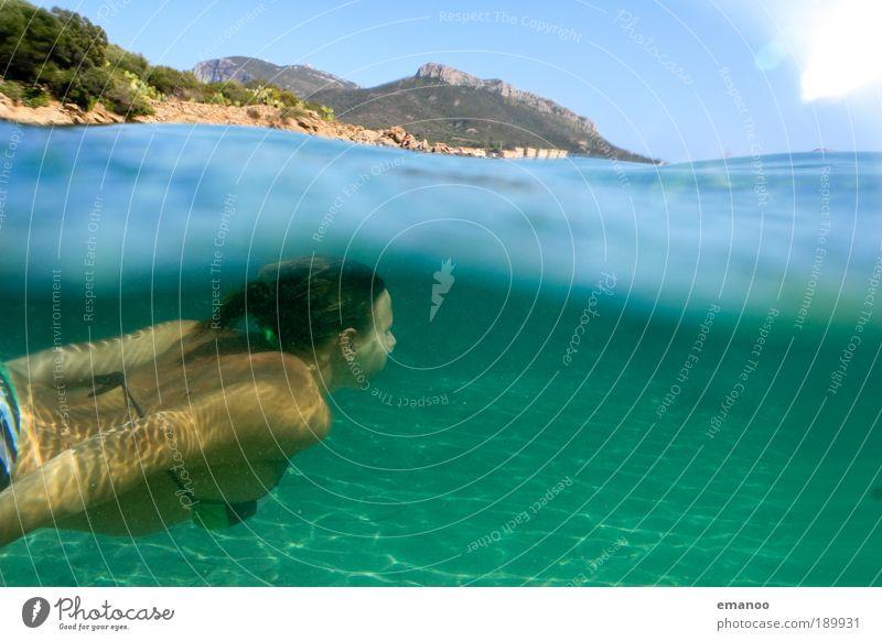 diving sardinia Swimming & Bathing Vacation & Travel Freedom Summer Summer vacation Beach Ocean Island Sports Aquatics Dive Feminine Young woman