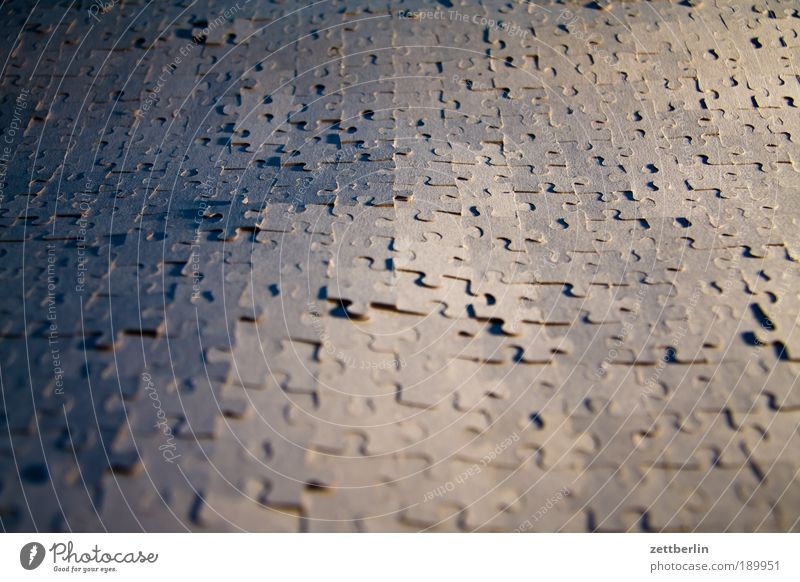 jigsaw Puzzle Synthesis Structures and shapes Rear side team building Arrangement Background picture Copy Space
