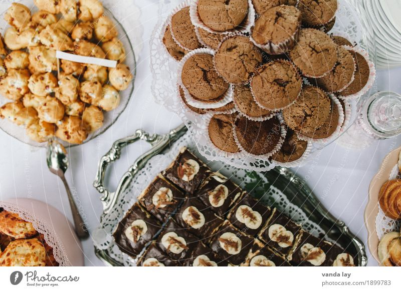Please access Food Ice cream Candy Chocolate Jam Muffin Tartlet Nutrition To have a coffee Buffet Brunch Banquet Slow food Crockery Plate Spoon Overweight