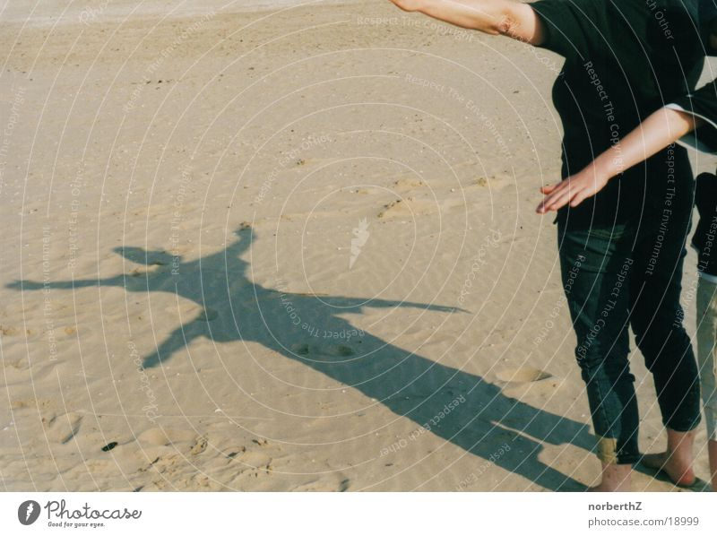 Beach Sand Shadow play