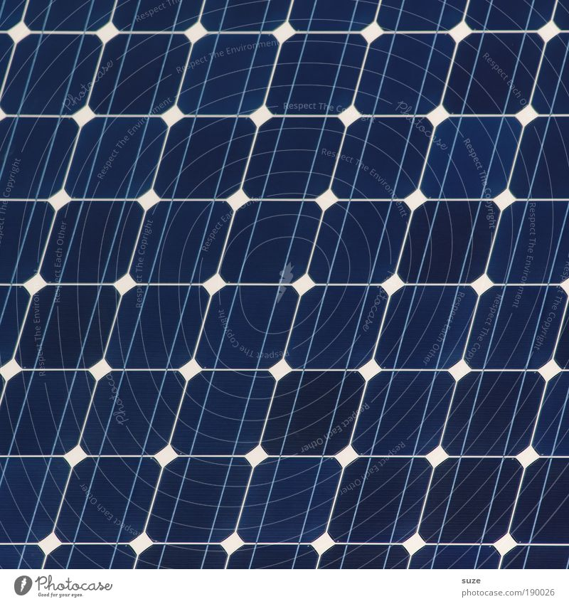solar Energy industry Technology Renewable energy Solar Power Environment Sign Line Stripe Network New Blue Arrangement Future Alternative Climate protection