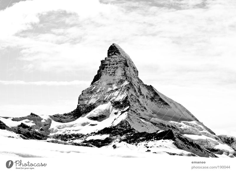 Sky Nature White Beautiful Winter Landscape Snow Mountain Freedom Black & white photo Weather Power Rock Climate Large