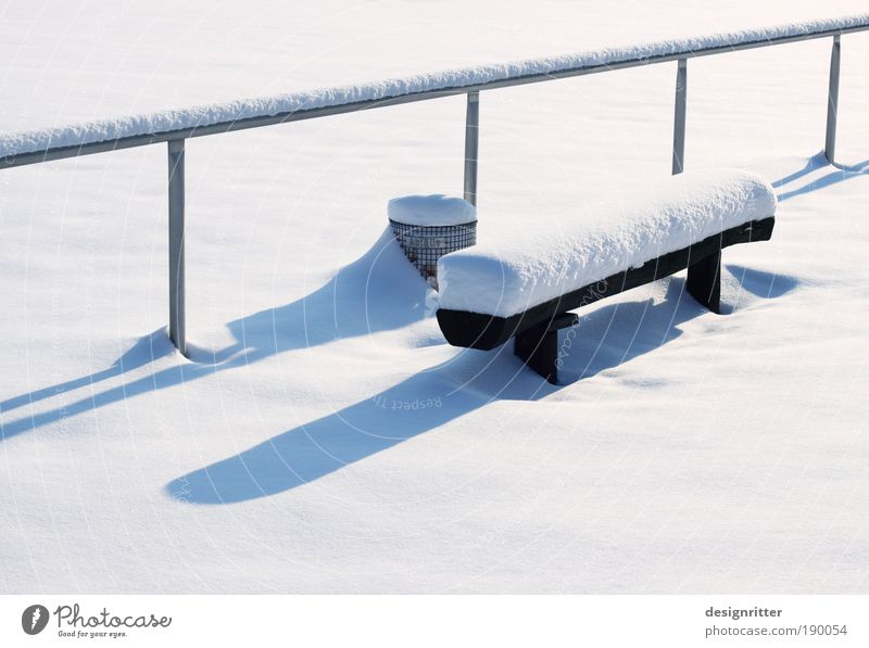 Winter Calm Snow Weather Ice Frost Bench Peace Handrail Beautiful weather Stadium Patient Football pitch Winter vacation Rest Ball sports