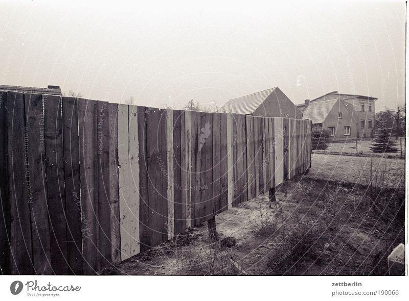 wooden fence Fence Wooden fence paling fence Wooden board Real estate Village Border Dreary Sadness Gloomy