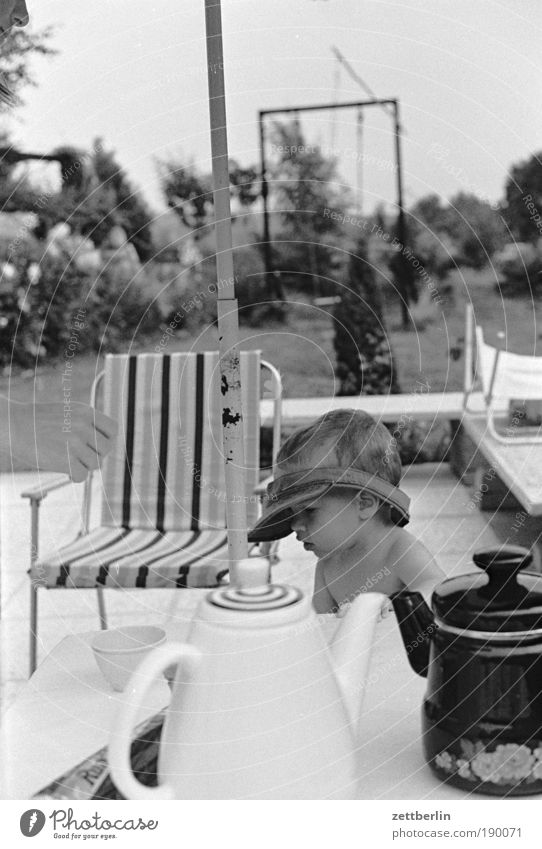 Summer 1987 Child Coffee Jug Coffee table Table Furniture Garden Vacation & Travel Chair Camping chair Swing Cap Weather protection Hand