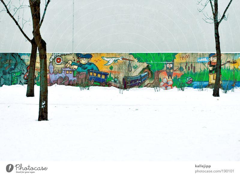 Human being Nature Tree Plant Joy Animal Meadow Playing Garden Lake Landscape Line Graffiti Bird Masculine Environment