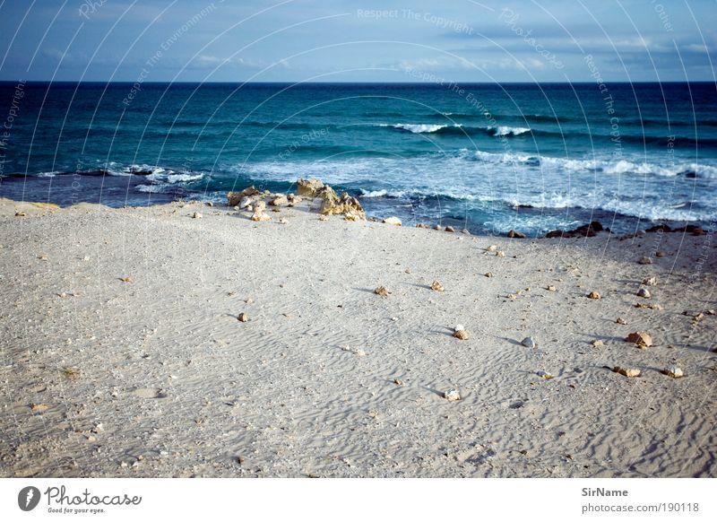 117 [wide] Vacation & Travel Beach Ocean Waves Nature Landscape Horizon Summer Coast Deserted Sand Water Blue White Purity Dream Longing Wanderlust Pure