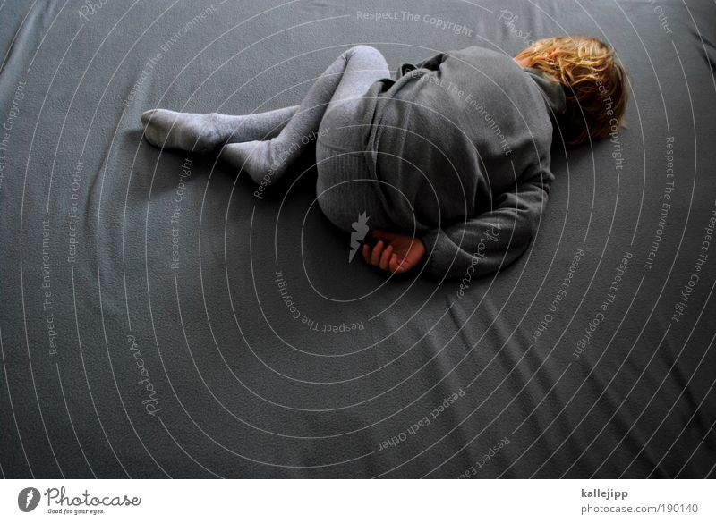 grayscale Human being Boy (child) Infancy Life Hair and hairstyles Hand Legs Feet 1 3 - 8 years Child Jacket Tights Blonde Lie Sleep Dream Sadness Fear