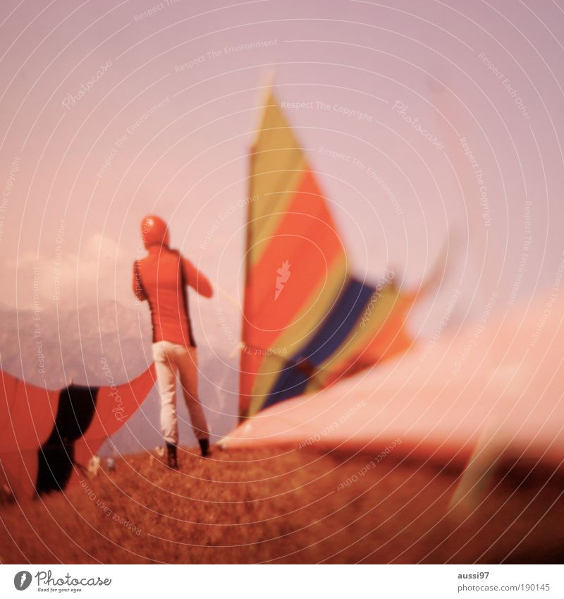 KITES ARE FUN Sailing Pilot Flying Hang glider Hang gliding Glide Glider flight solvent Blur