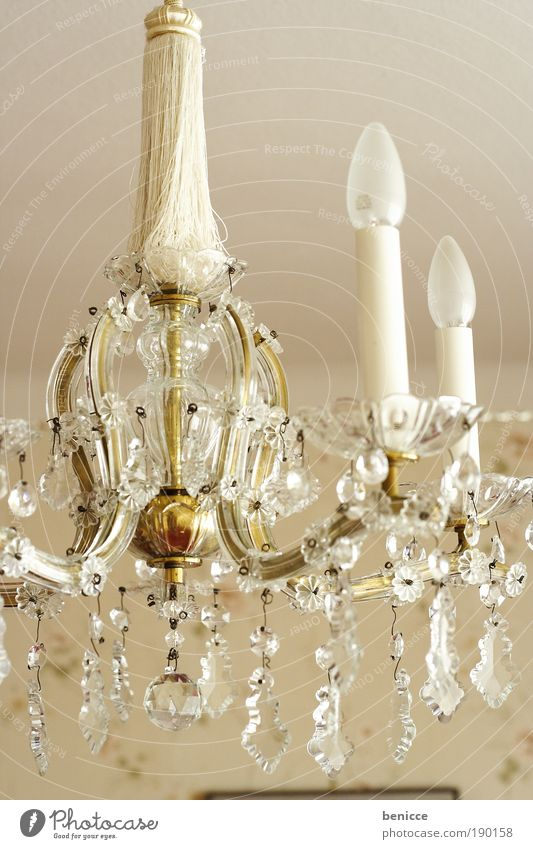 noble Noble Chandelier Ceiling light Crystal crystal pattern Old Historic Old building Lamp Light Energy Ornate Castle Electric bulb