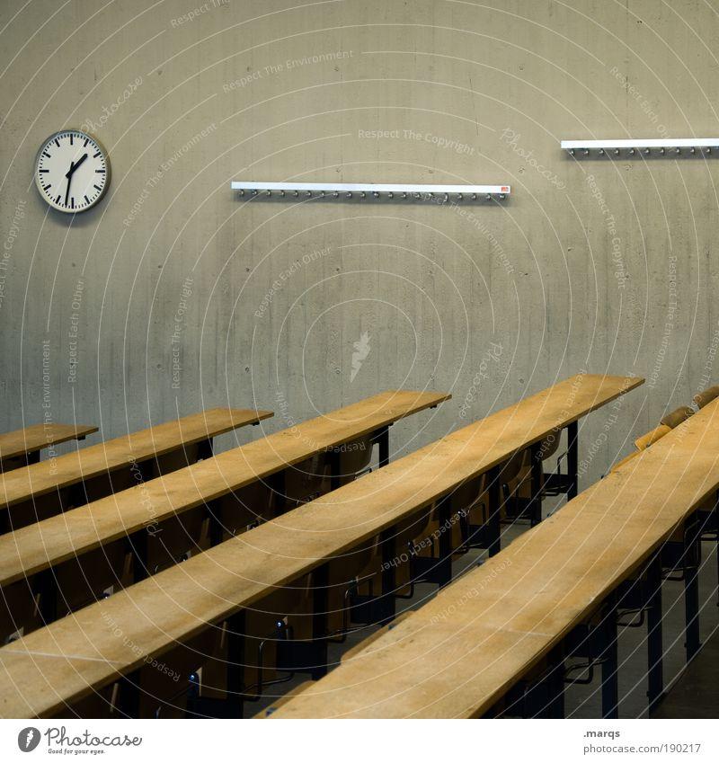 Old Building Interior design Clock Success Academic studies Break Education Write University & College student Fear of the future Brave Meeting Stress