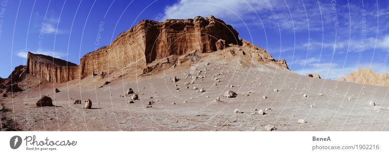 Cliffs, rocks and desert landscape in the Moon Valley of the Atacama Desert Vacation & Travel Tourism Adventure Far-off places Safari Expedition Nature