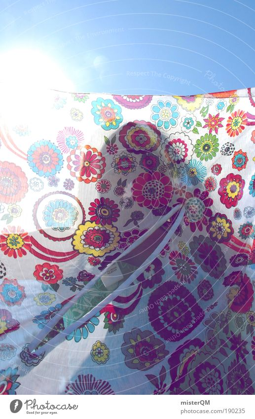 Summer Air Sunbeam Multicoloured Esthetic Decoration Back-light Contrast Many Cloth Shadow Laundry Light Clothesline Rag Trend