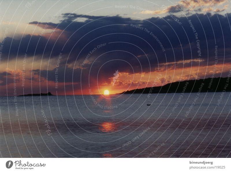 Sunset in Croatia Back-light Adriatic Sea