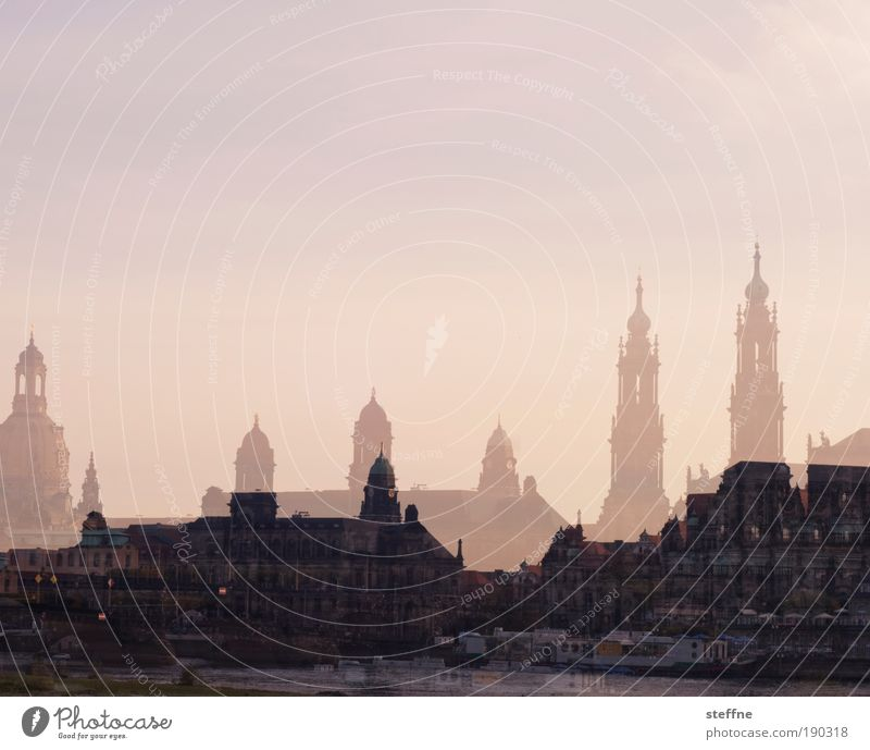 Beautiful Saxony Church River Romance Dresden Culture Landmark River bank Double exposure Elbe Tourist Attraction Emotions Frauenkirche Hofkirche Dresden Hofkirche
