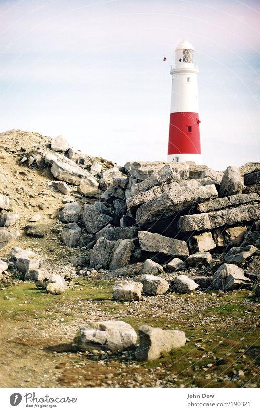 Sky Vacation & Travel Landscape Architecture Coast Stone Rock Trip Illuminate Safety Tower Hill Protection Beautiful weather Navigation Analog