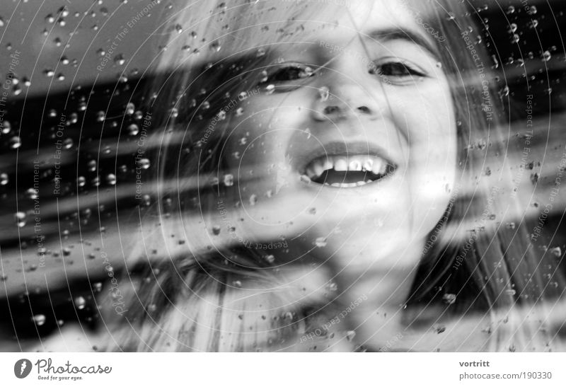 Lucy's Dream Child Girl Face Eyes Mouth Teeth 3 - 8 years Infancy Long-haired Esthetic Beautiful Joy Happy Happiness Black & white photo Close-up Day Reflection