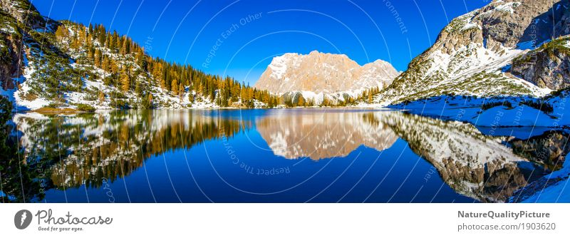 Sky Vacation & Travel Plant Water Tree Landscape Relaxation Calm Far-off places Winter Forest Mountain Autumn Background picture Snow Swimming & Bathing