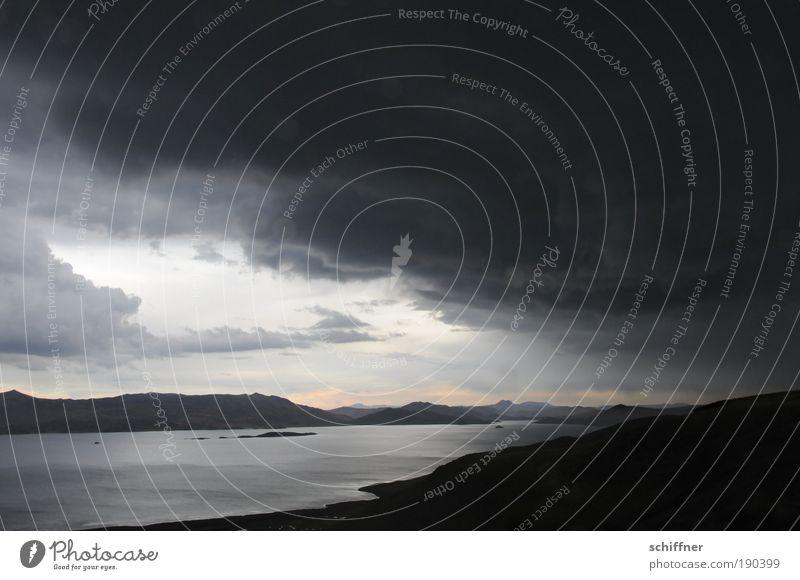 Clouds Dark Landscape Mountain Sadness Lake Rain Horizon Wind Fear Climate Dangerous Threat Hill Lakeside Bay