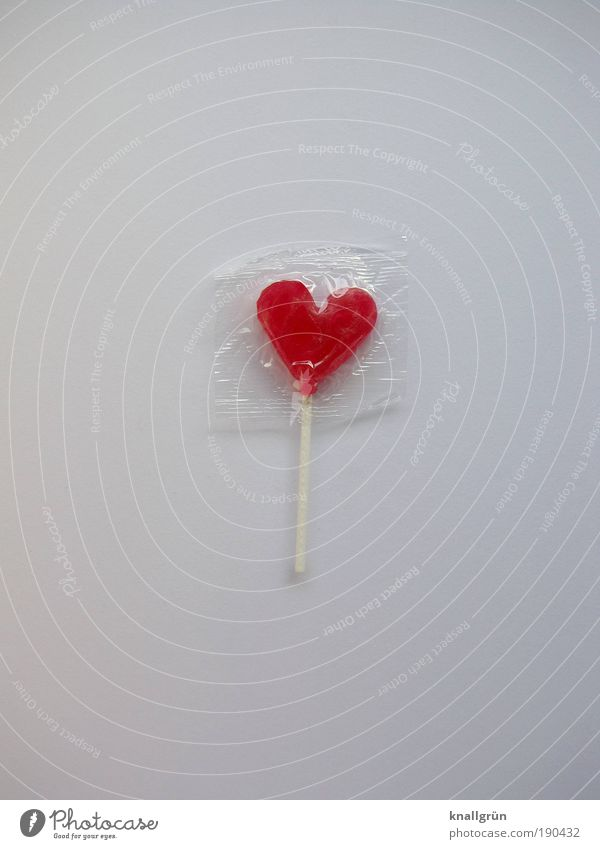 SweetHeart Food Candy lollipop Nutrition Happy Kitsch Delicious Red White Emotions Joie de vivre (Vitality) Sympathy Love Infatuation Romance Relationship