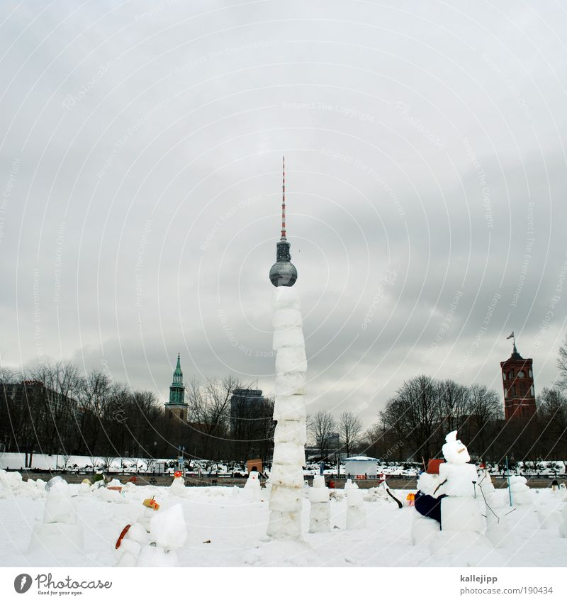 Sky Winter Clouds Snow Berlin Playing Park Ice Art Architecture Weather Lifestyle Frost Church Tower