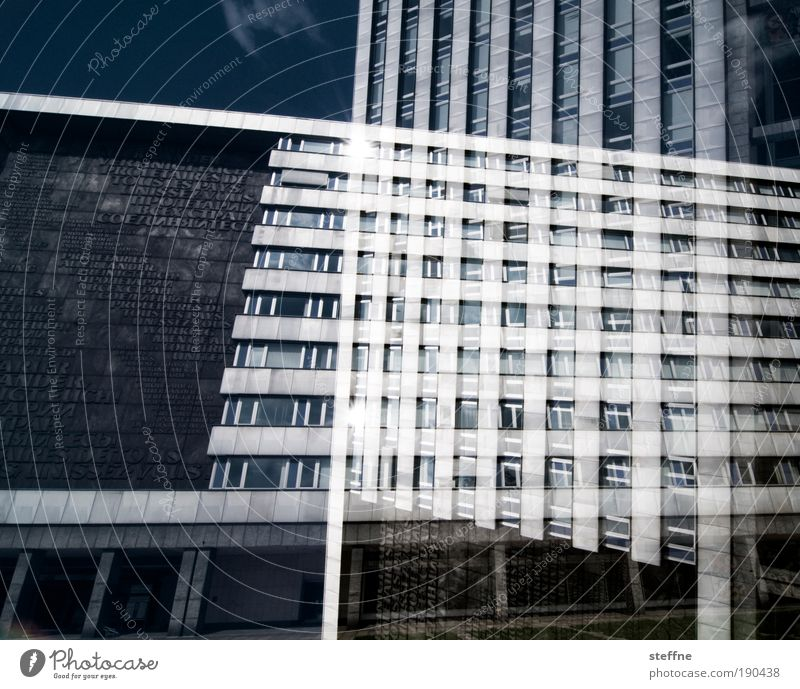 Building Saxony Contrast Light Bizarre Double exposure Tourist Attraction Chemnitz