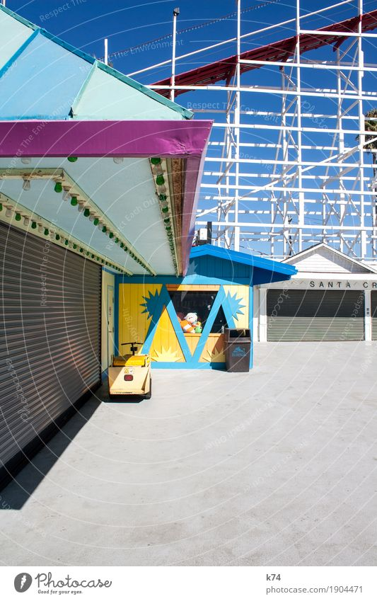 Old Blue Joy Yellow Gray Pink Fresh Turquoise Positive Scaffolding California Roller coaster Amusement Park Rolling door