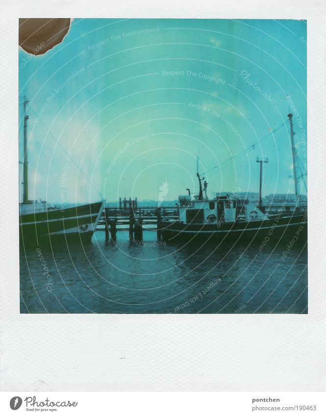 Polaroid shows ships in a harbour Leisure and hobbies Vacation & Travel Tourism Trip Far-off places Freedom Cruise Sailing Work and employment Profession