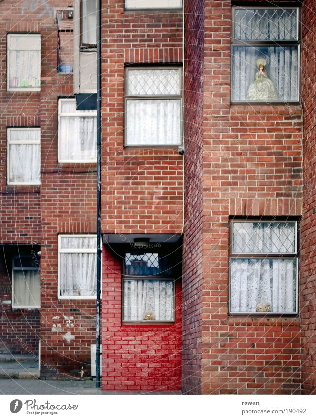 Old City Red House (Residential Structure) Wall (building) Window Wall (barrier) Building Dirty Architecture Poverty Facade Gloomy Living or residing Brick