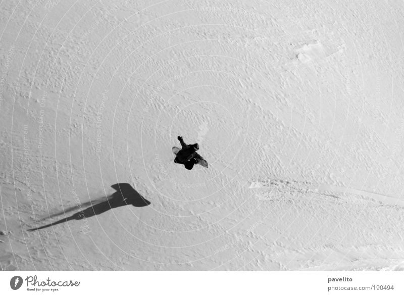 Man Winter Adults Snow Sports Jump Esthetic Posture Snowboard Winter sports Freestyle Black & white photo Snow layer Snowboarding Snowboarder Canton Graubünden