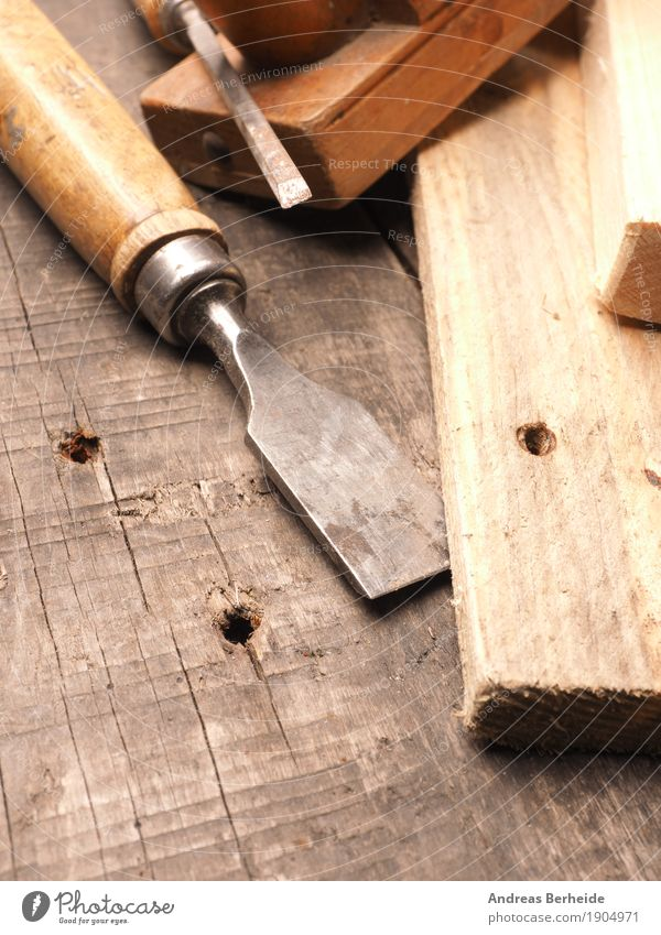 Chisels and planes Snowboard Craft (trade) Tool Wood Old Retro Brown antique Background picture bench carpenter carpentry chisel collection dirty Grunge joiner