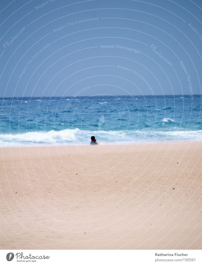 Nature Water Sky Ocean Blue Summer Beach Vacation & Travel Far-off places Sand Landscape Brown Waves Weather Earth Climate