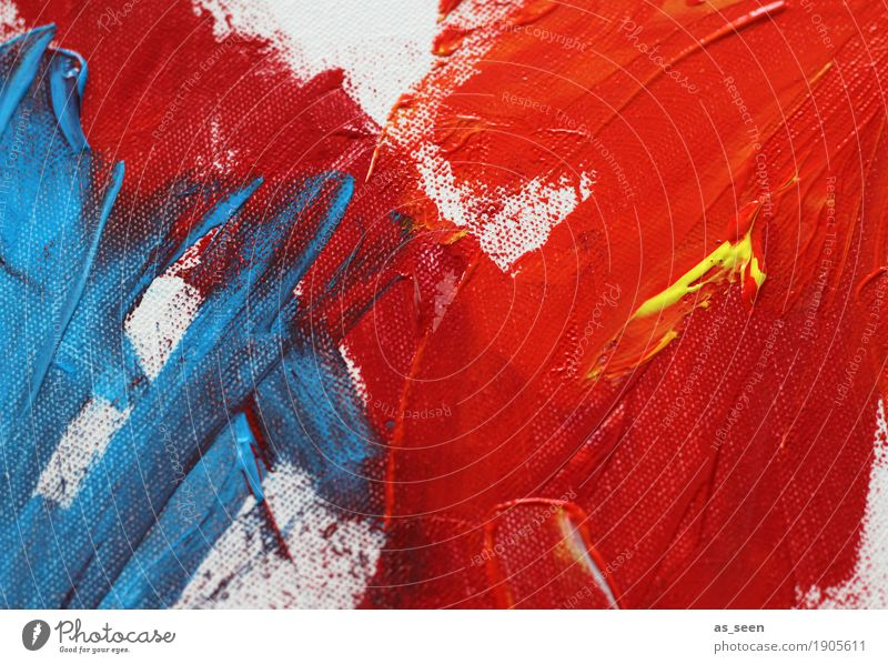 blue meets red Life Leisure and hobbies Painting (action, artwork) Decoration Art Work of art Painting and drawing (object) Culture Illuminate Esthetic