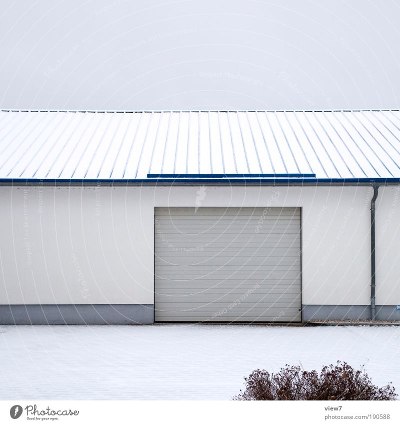 Sky Clouds Loneliness House (Residential Structure) Far-off places Dark Wall (building) Snow Above Stone Wall (barrier) Line Facade Concrete Arrangement Modern