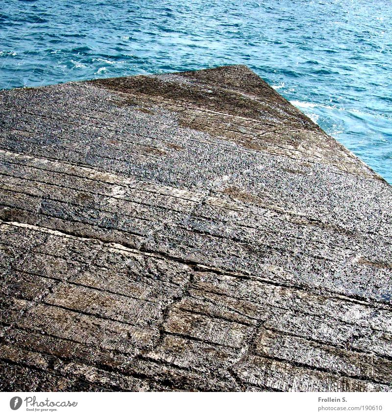 Nature Water Ocean Blue Summer Vacation & Travel Movement Stone Brown Coast Esthetic Tourism Authentic Harbour Infinity Material