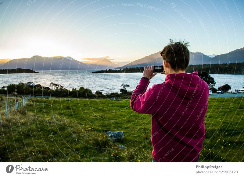 Discover New Zealand Vacation & Travel Tourism Adventure Far-off places Freedom Human being Masculine Young man Youth (Young adults) Life 1 18 - 30 years Adults