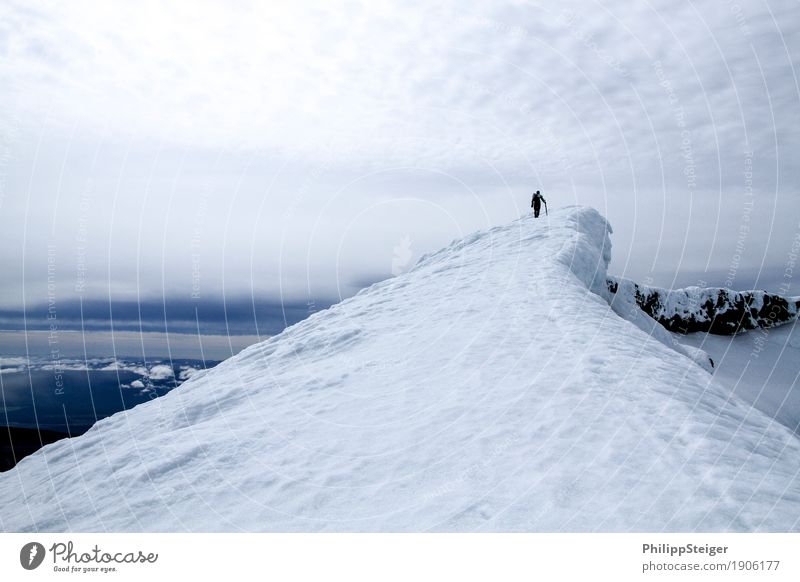 Human being Sky Vacation & Travel Youth (Young adults) Young man Landscape Far-off places Winter 18 - 30 years Mountain Adults Environment Snow Freedom Masculine Free